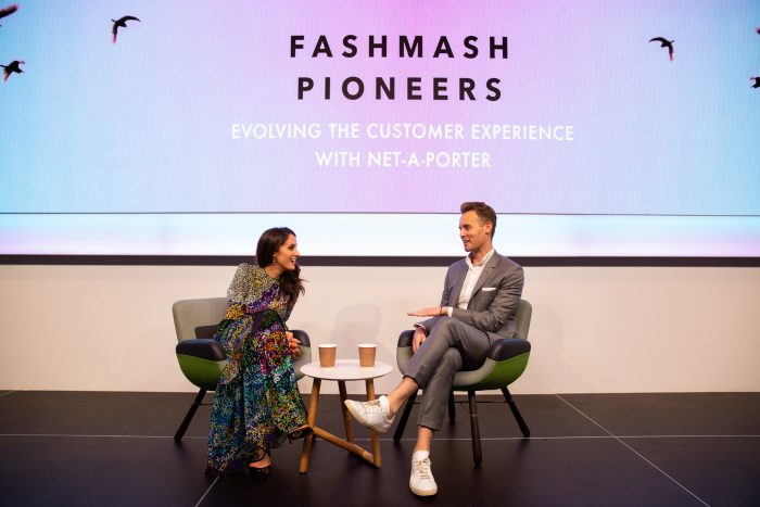 Rosanna Falconer on stage at FashMash Pioneers